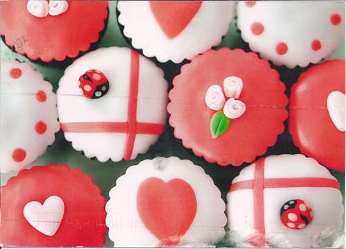 Cupcake Roses Postcard