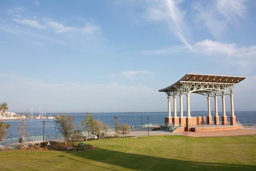 A nice little amphitheater behind Pensacola Bayfront Stadium