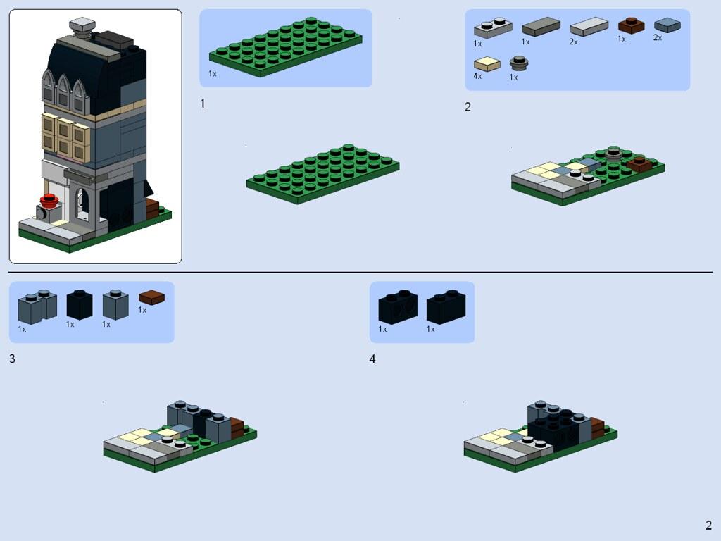 Lego Pet Shop Building Instructions
