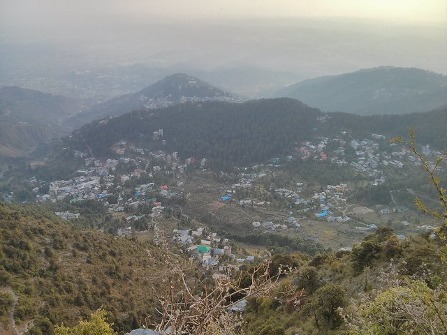 Five towns in one view from Triund