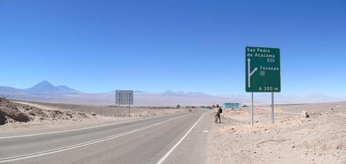 San Pedro de Atacama: ruta del desierto. La route du désert et ses volcans.