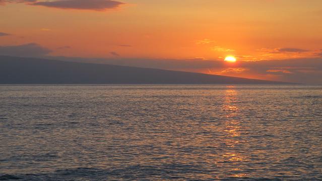 Zonsondergang in Lahaina