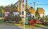 Traditionell stehen sich bei den jährlichen Billeder Tagen in der Dorfmitte 2 riesige Strohpuppenpaare mit symbolischer Andeutung der Trachten der alten und neuen Billeder Bevölkerung gegenüber