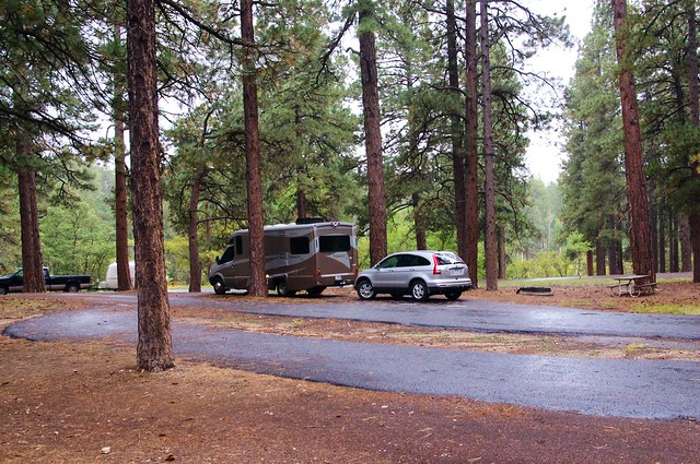 Itaska Navion iQ and Honda CRV, North Rim Campground, Grand Canyon, Arizona, October 3, 2011