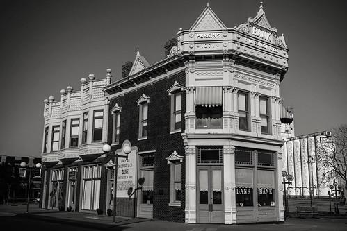 blackandwhite historic condonbank coffeyvillekanas
