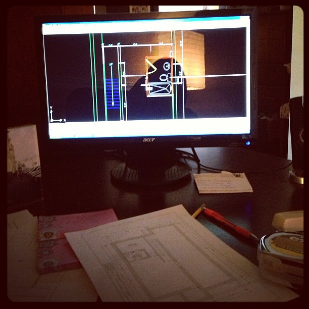 Trying to make a full bath fit into my basement. Haven't done this in awhile. #architecture #autocad #architect