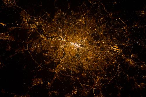 London, England at Night (NASA, International Space Station, 02/02/13)