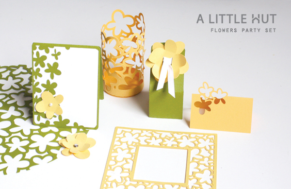 flowers party set