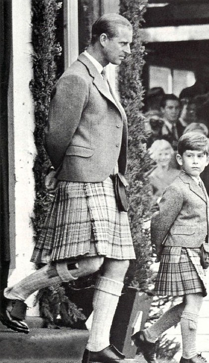 1955 Prince Philip and Prince Charles (aged 6) in 1955