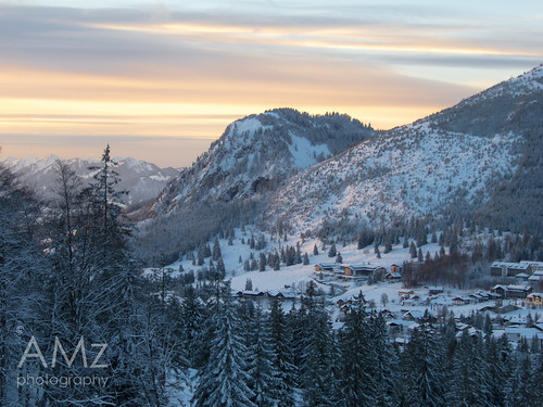 sonnenuntergang dorf village view nieve nevada bad peaceful berge ...