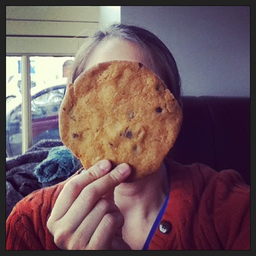 That's one big #cookie, @electriccork! #selfie