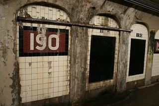 Detalle de una Estación de metro de Nueva York