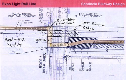 Expo Bikeway Driveway Conflict