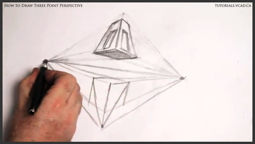 learn how to draw three point perspective 011