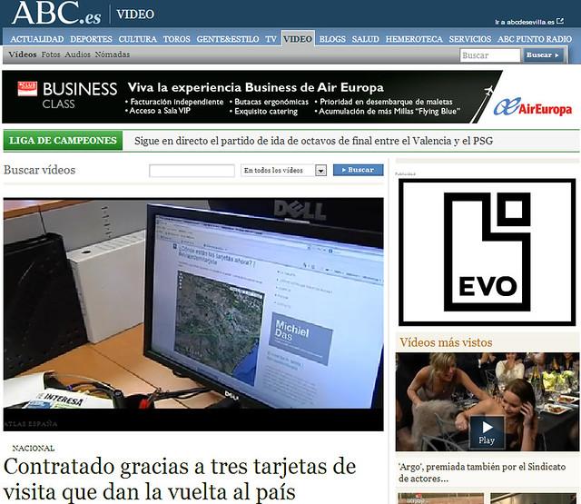 Artículo en la web - Noticias ABC (12.02.2013) - castellano