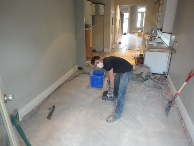 first floor lkitchen and basement renovations
