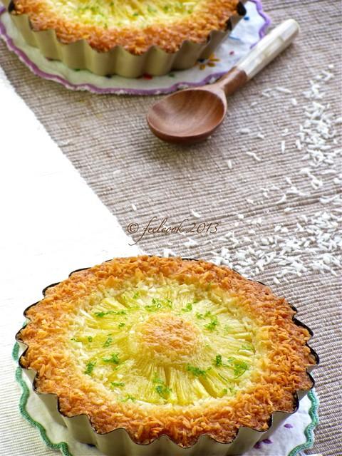 Tortine frangipane al cocco e ananas