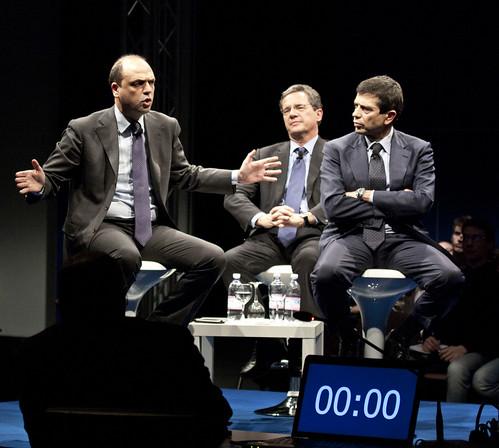 Maurizio Lupi Angelino Alfano Luigi Casero a La Sfida