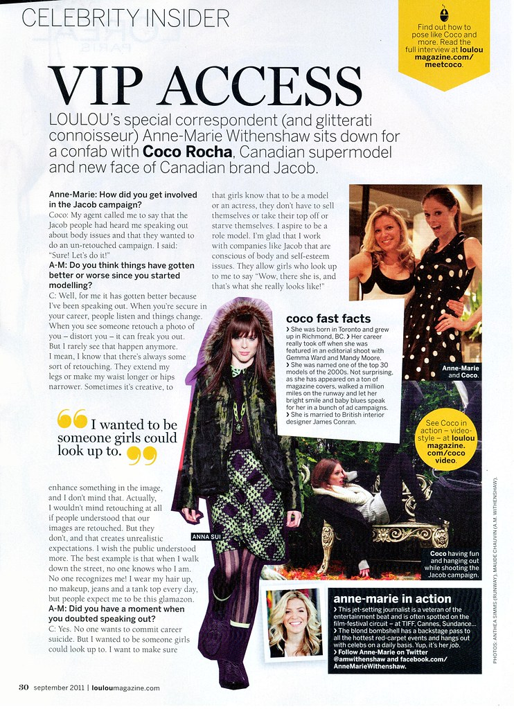 COCO ROCHA interview