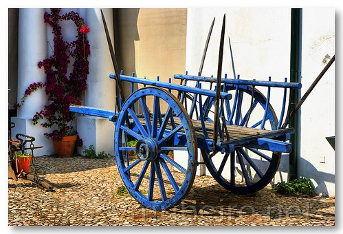 Blue cart by VRfoto