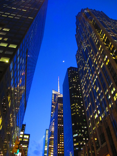 Crescent Moon Over NYC