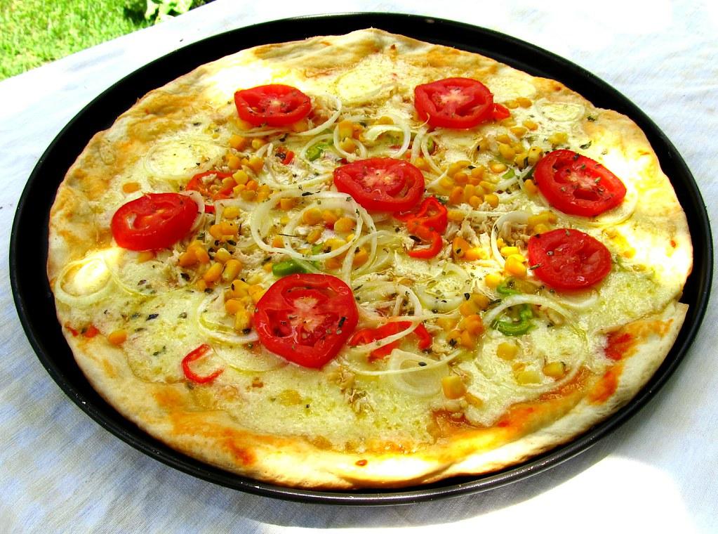 Receita de pizza fácil