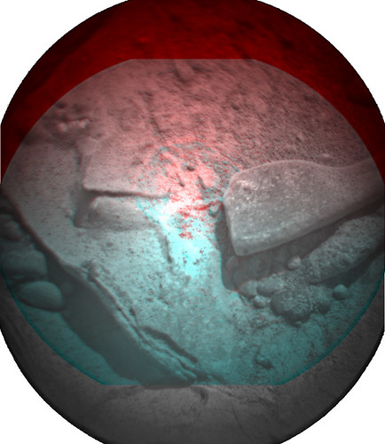 CURIOSITY ChemCam Sol 193 anaglyph