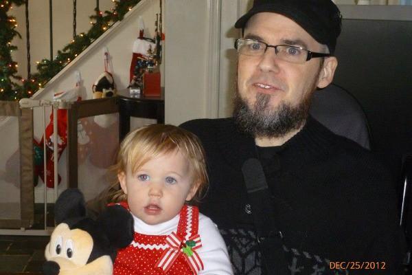 Tom and his niece Christmas 2012