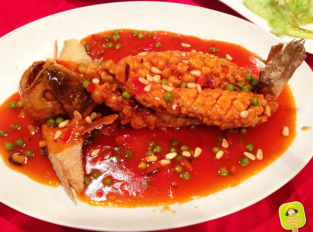 456 Shanghai Cuisine - whole yellow fish with pinenuts