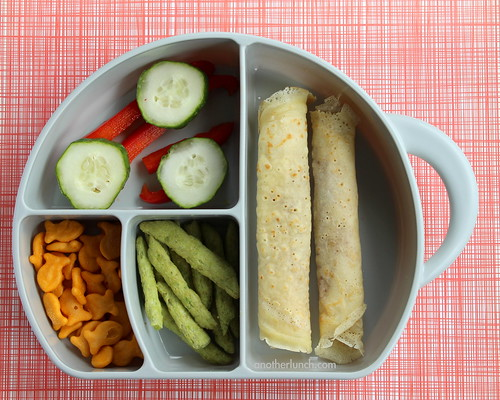 Boone Elephant box veggie and crepe preschool lunch