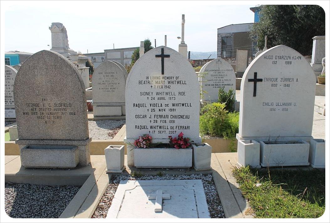 valparaiso cemetery english family grave
