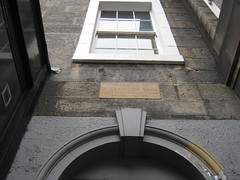 Photo of Alexander Bain stone plaque