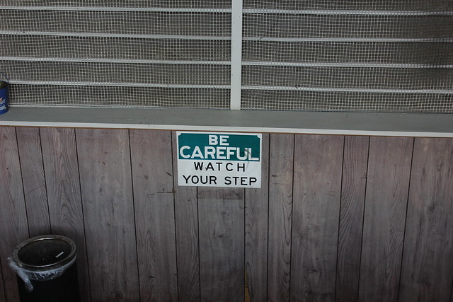 Header of be careful