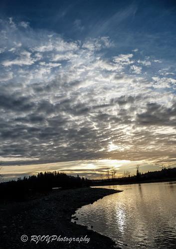 sunset sky cloud clouds skyscape landscape landscapes scenery scenic sunsets panasonic fraser skyscapes fraserriver rive