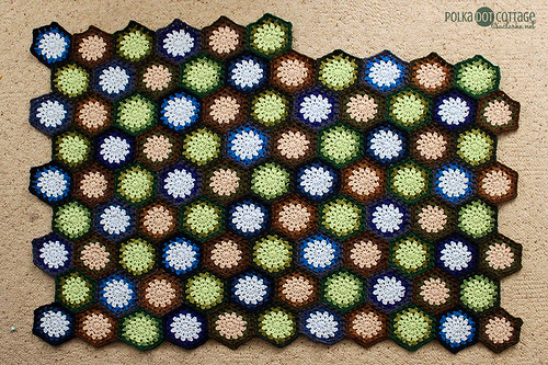 Hexagon blanket in progress