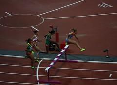 Women's 3000m Steeplechase Final - London 2012 - Yuliya Zaripova in the lead