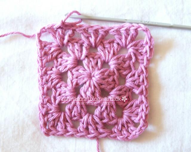 Crochet granny square tutorial - 13