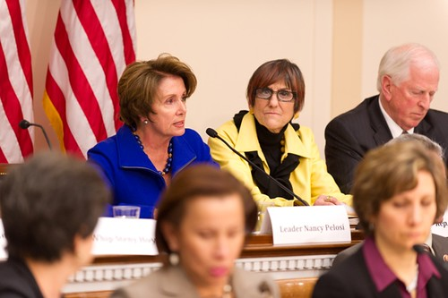 Congresswoman Pelosi discusses the prevention of future gun violence