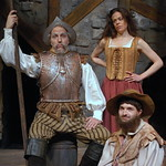 Arvada Center Man of La Mancha Clockwise from left: William Michals (Don Quixote) Jennifer DeDominici (Aldonza) Ben Dicke (Sancho) photo P. Switzer 2013 -