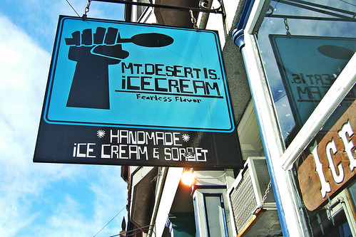 Mt Desert Island Ice Cream Sign