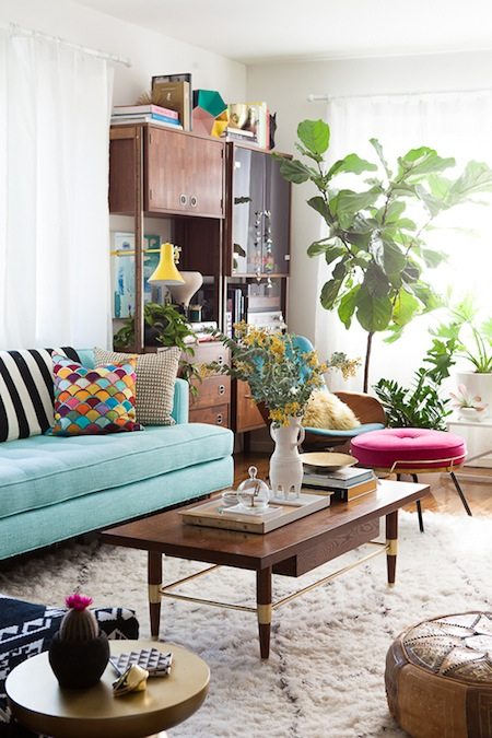 A Bright And Colorful Living Room By Emily Henderson   AphroChic | Modern  Soulful Style