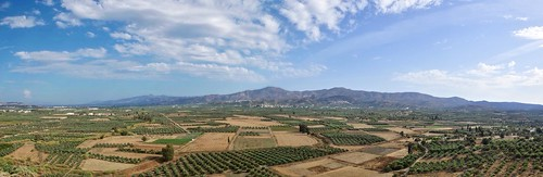 panorama landscape europe greece crete messaraplain