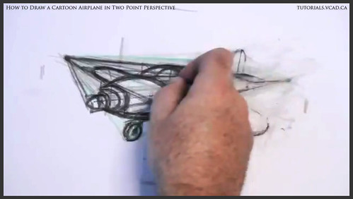 learn how to draw a cartoon airplane in two point perspective 029