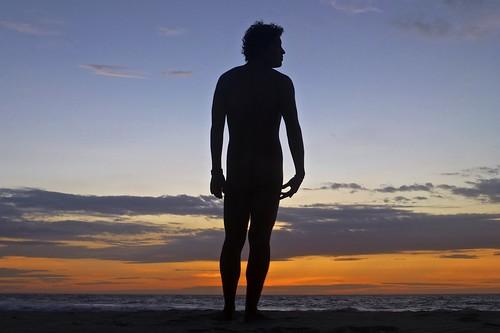 boy sunset man cute guy beach peru colors silhouette naked atardecer body colores silueta mancora cuerpo desnudo piura