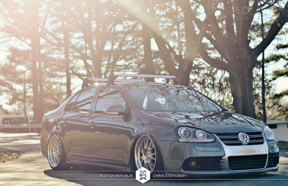 klutch wheels sl14 bagged jetta volkswagen vw stanced bagriders slammed poke stretch