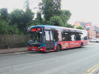 TrawsCambria Optare Tempo on the 704 service in Newtown
