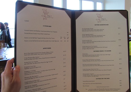 Lunch Menu at The C restaurant + bar