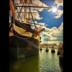 sail, sailing ship, vehicle, ship, mast, ghost ship, caravel, tall ship, watercraft, boat, barque, brigantine,