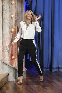 Blake Lively Monochrome Trend Celebrity Style Women's Fashion