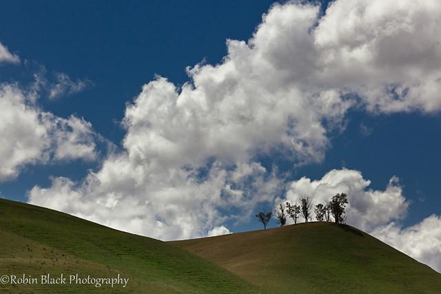 Hill and Clouds, Creston CA